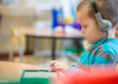 Elementary Student with iPad